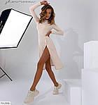 Жіноче плаття в рубчик з регульованим розрізом збоку, фото 7