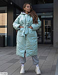 Женский зимний объёмный пуховик-одеяло с аква-пропиткой,  42-46, оливка, синий, бежевый, фото 9