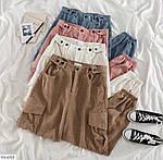 Женские вельветовые джогеры с карманами 42-44, 44-46, молоко, мокко, джинс, фрез, фото 2