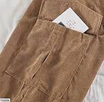 Женские вельветовые джогеры с карманами 42-44, 44-46, молоко, мокко, джинс, фрез, фото 5