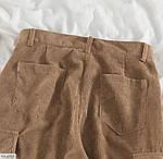 Женские вельветовые джогеры с карманами 42-44, 44-46, молоко, мокко, джинс, фрез, фото 7