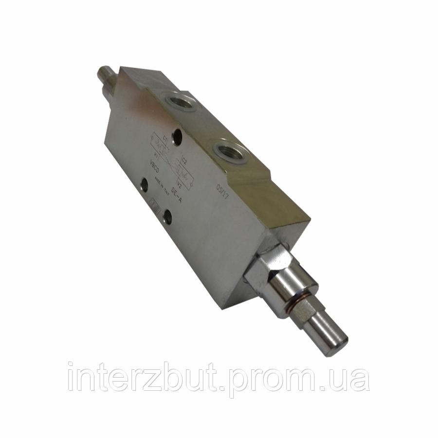 """Клапан гальмівний (підпірний) двосторонній Oleodinamica Marchesini VBCD 3/8 """"DE / A Італія"""