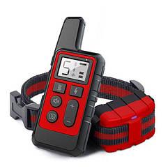 Электроошейник для собак дрессировочный Pet DTC-500 водонепроницаемый, дальность до 500 метров, красный