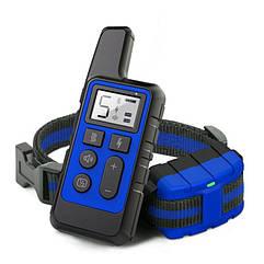 Электроошейник для собак дрессировочный Pet DTC-500 водонепроницаемый, дальность до 500 метров, синий