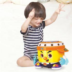 """Інтерактивна розвиваюча іграшка """"Веселий барабан"""" Hola 6107 (світло, звук)"""