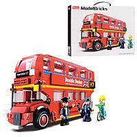 Конструктор SLUBAN M38-B0708 & quot; Model Bricks & quot ;: Двухэтажный автобус, 382 деталей