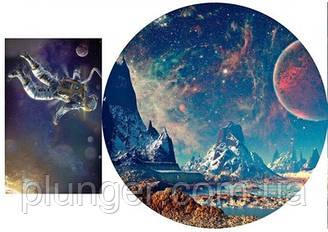 Вафельна картинка для кондитерських виробів Космос (аркуш А4)