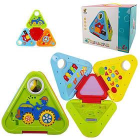 Інтерактивна розвиваюча іграшка «Веселий трикутник» 6628 (6 граней, підсвічування, англ., 30 колискових)