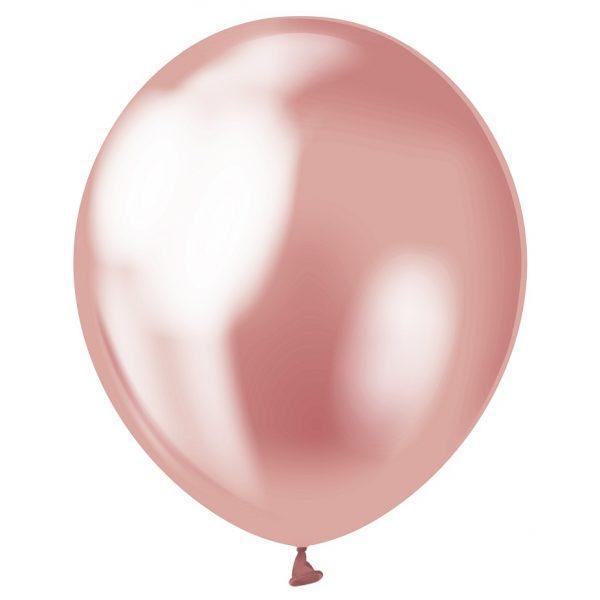"""Латексна кулька хром рожевий 12""""/30см Pink Kalisan"""