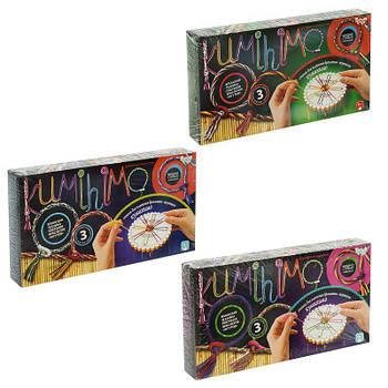 Комлект наборов для плетения браслетов Kumihimo (Кумихимо), 3 набора