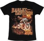 Рок-футболка Harley Davidson-лава