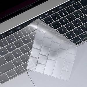 Силиконовая накладка на клавиатуру WIWU Keyboard Protector For Macbook 12/Pro 13 (A1708) Clear