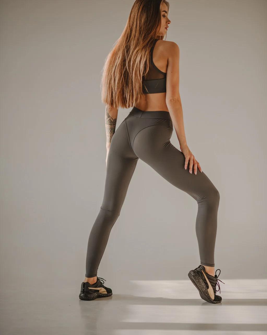 Женские лосины для фитнеса asalart magnet gray