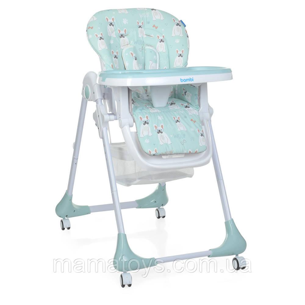 Детский стульчик для кормления Bambi M 3233 Puppy Boy Blue Собачка Голубой