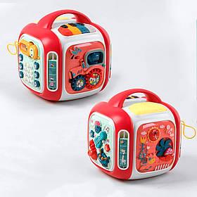 Інтерактивна розвиваюча іграшка «Музичний куб» CY-7068 B (навчання, світло і звук, англ.озвучування)