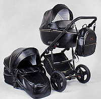 Детская коляска 2 в 1 Roxy (Rosy) эко кожа черная