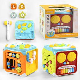 Інтерактивна розвиваюча іграшка «Музичний куб» 63601 (світло, звук, англійська озвучка)