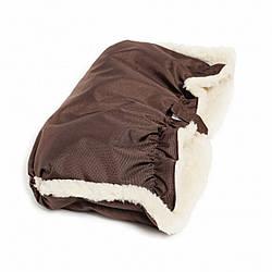 Муфтa Twins Snow мех Blue chocolate коричневый