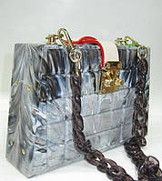 Женский праздничный клатч 28538 Grey Женские вечерние клатчи Праздничные клатчи на любой вкус