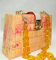 Женский праздничный клатч 28538 Yellow Женские вечерние клатчи Праздничные клатчи на любой вкус