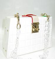 Женский праздничный клатч 28538 White Женские вечерние клатчи Праздничные клатчи на любой вкус