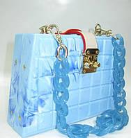 Женский праздничный клатч 28538 Blue Женские вечерние клатчи Праздничные клатчи на любой вкус