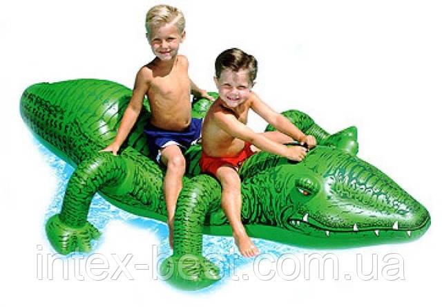 """Детская надувная игрушка """"Крокодил"""" Intex 58562 (203x114 см.)"""
