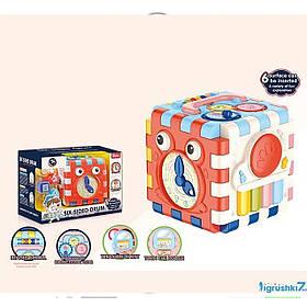 Інтерактивна розвиваюча іграшка «Музичний куб» BM 1001 (підсвічування, мелодії, звуки тварин, сортер)