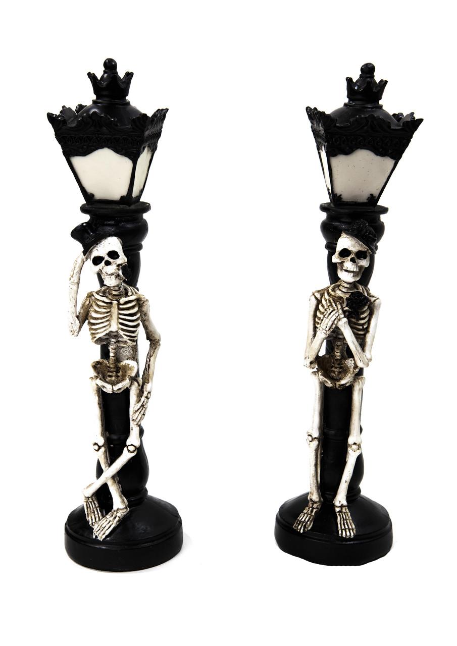 Светильник скелет под фонарем (2 шт) керамика