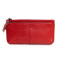 Женский кожаный кошелек-косметичка A00276-4 red.Купить женский кожаный кошелек.