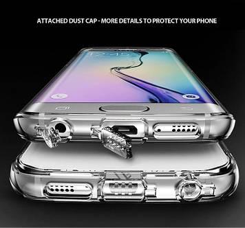 "Samsung S6 G920 GALAXY Противоударный TPU чехол бампер накладка прозрачный для телефона ""RF"""