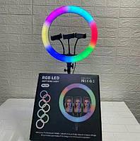 Цветная кольцевая лампа LED лампа RGB MJ36 + 3 крепления, с управлением на проводе