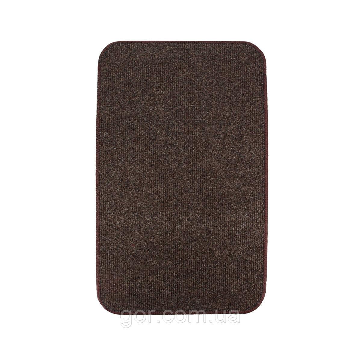 Електричний килимок з підігрівом Теплик двосторонній 50 х 30 см Темно-коричневий