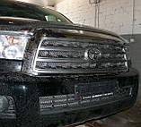 Декоративно-защитная сетка радиатора Toyota Sequoia фальшрадиаторная решетка,бампер., фото 3