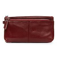 Женский кожаный кошелек-косметичка A-00276-2 bordo.Купить женский кожаный кошелек.
