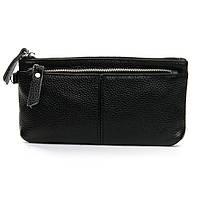 Женский кожаный кошелек-косметичка A-00276-1 black.Купить женский кожаный кошелек.