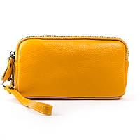 Женский кожаный кошелек-косметичка 6002-9 yellow.Купить женский кожаный кошелек.