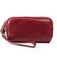 Женский кожаный кошелек-косметичка  6002-2 bordo.Купить женский кожаный кошелек.