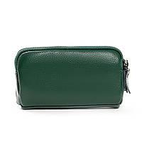 Женский кожаный кошелек-косметичка 6002-12 green.Купить женский кожаный кошелек.