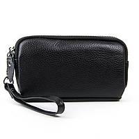 Женский кожаный кошелек-косметичка 6002-1 black.Купить женский кожаный кошелек.