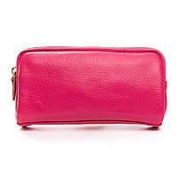 Женский кожаный кошелек-косметичка  6003-6 розовый.Купить женский кожаный кошелек.