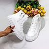 Універсальні білі жіночі спортивні зимові черевики на шнурівці, фото 5