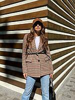 Піджак Fashion жіночий стильний з вовни вільного крою з підплічниками і подкладом Pdv316