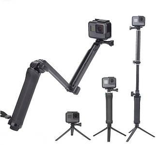 Монопод 3way 3в1 TELESIN для екшн-камер