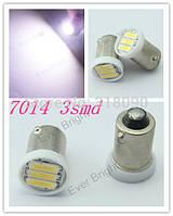 Светодиодная лампа white ba9s 12v 3smd 7014