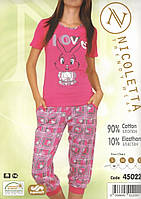 Пижама женская с капри   Nicoletta 45022