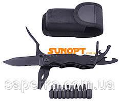 Багатофункціональний ніж (мультитул) з комплектом біт MS-009-G