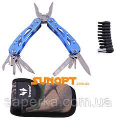 Багатофункціональний ніж (мультитул) з комплектом біт MT-629 (Синій)
