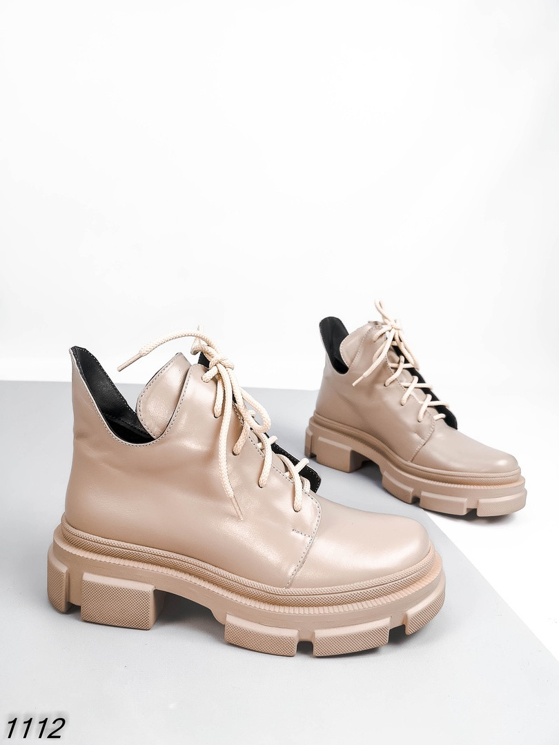 Женские ботинки Цвет - бежевый Материал - нат.кожа