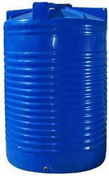 Пластиковий бак Euro Plast RVD 1500 (121х142) двошаровий